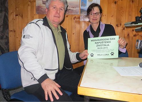 Sandra Donjerković – predsjednica Udruge za zaštitu životinja Vela Luka na radiu Val