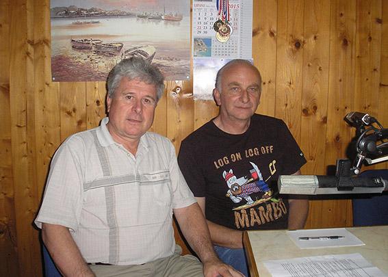 John Klanfar u radiju Val