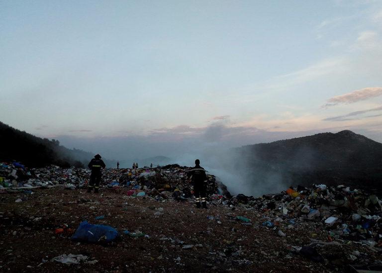 Požar na deponiju smeća Sitnica