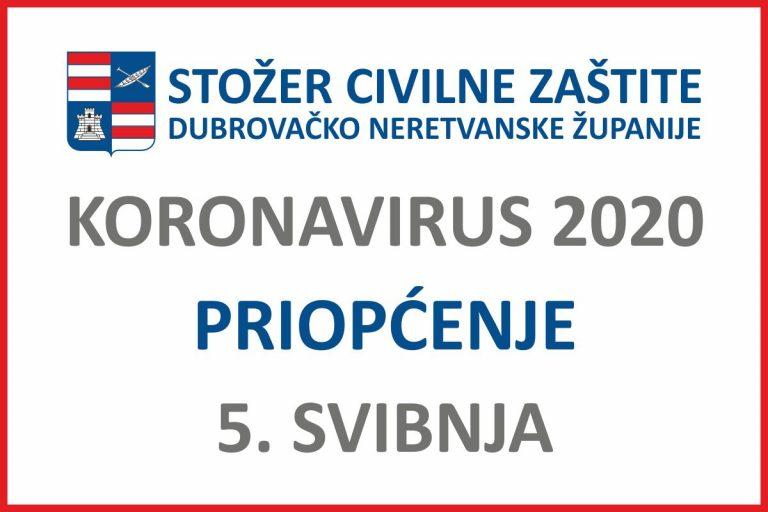 Stožer DNŽ: Nema novih slučajeva zaraze koronavirusom