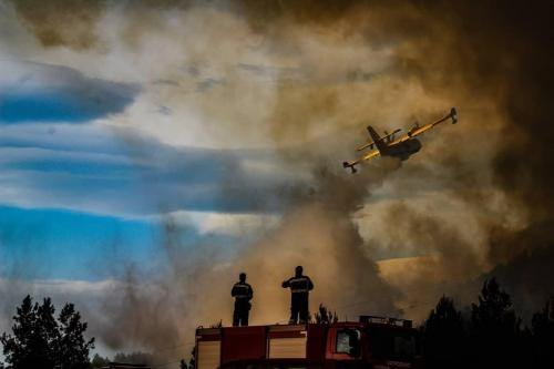 Gašenje požara u Smokvici 05.04.2020.Foto: Mario Telenta