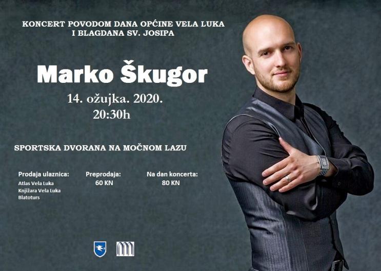 Koncert Marka Škugora 14.03.2020. Vela Luka
