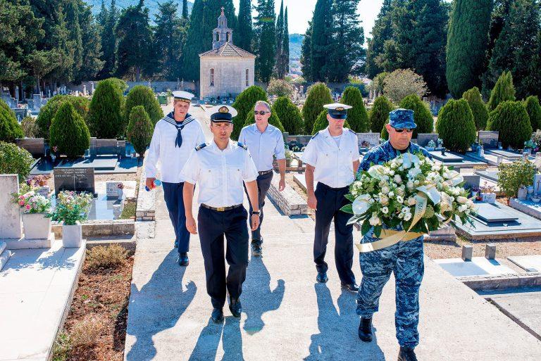 Posada Hrvatske ratne mornarice uplovila je u u Oliverovu posljednju luku